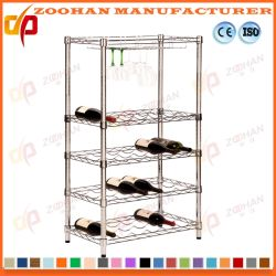 Metal Chrome Home Office Kitchen Hotel Wire Shelving Cart (Zhw113)