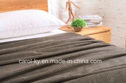 Heathered DOT Jacquard Pattern Ultra Velvet Plush Cozy Throw Blanket