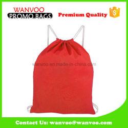 Red Nylon Bag Drawstring Shoe Backpack Packaging