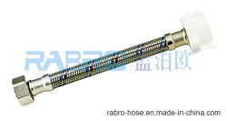 Metal Braided Flexible Hose, EPDM Tube Inside with Red/Blue Line, Lifetime to Be More Than 10 Years