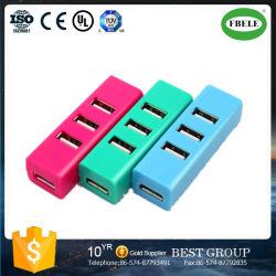 Small Row Inserted Usbhub USB Splitter Mini Four Port USB 2.0hub Factory Shipped Price Advantage