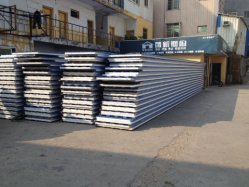Sea Blue Corrugated Metal Sandwich Panel for Roof Decoration