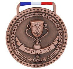 Cheap Metal Blank Ribbon Hanger Gold Silver Bronze Sports Medals Custom Trophy Medal