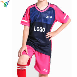 64190876c Wholesale High Quality Custom Sublimated Cheap Youth Set Soccer Jersey Kids