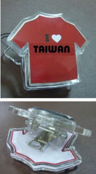 Acrylic Clip in Cloth Shape with Magnet (CP-001)