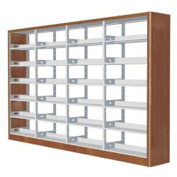 Factory Best Price Library Furniture Steel-Wood Book Shelf