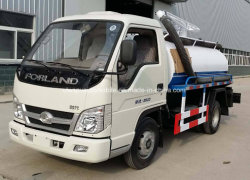 Small 4X2 Forland 2000 L Fecal Suction Vacuum Tank Truck