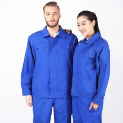 Blue Color Workwear Fabric Labour Insurance Protective Clothing
