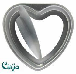 Anodization Heart-Shaped Remove Bottom Cake Pan