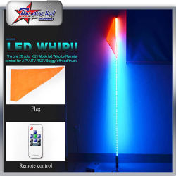 LED Safety LED Whips by Bluetooth Control 4FT/5FT/6FT for ATV/UTV