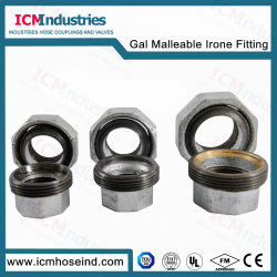 DIN1692 Galvanized & Black Malleable Iron Pipe Fitting Flat Union