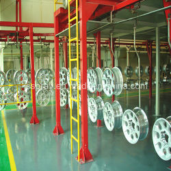 Electrophstatic Paint Spraying Line Painting Equipment for Hub