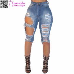 7b53f9f203 in Bluk Denim Destroyed Bermuda Jeans Shorts Women 2017 L535
