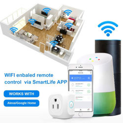 WiFi Mini Smart Outlet Compatible with Alexa Echo & Google Home