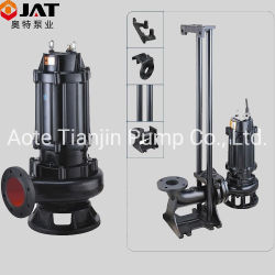 Wq/Non-Clog/Waste Water/Pond/Lake/Slurry/Centrifugal Sewage Submersible Drainage Pump with Auto Coupling