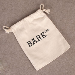 Customized Cotton Gift Drawstring Bag, Recycling Promotional Gift Packaging Bag