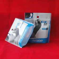 Sports Tights Packaging Bag with Zipper and Hanger Hole