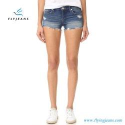 New Fashion Holes Distressed Cotton Jeans Women Denim Short