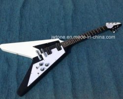 Popular Yinyang Taiji Design Flying V Electric Guitar All Color Accept