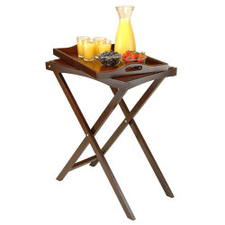 New Foldable Solid Wood High Tray
