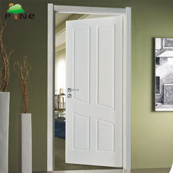Internal Flat Apartment Laminated MDF/HDF PVC Veneer Foil Hollow Core Soundproof Wooden/Wood Door for Home