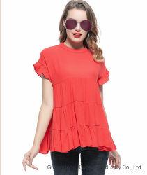 Ladies Fashion Blouse Leisure Apparel Autumn Clothing Wholesale Casual Bohemia Stringy Selvedge Women T Shirt