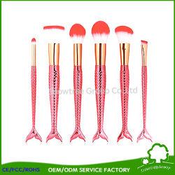 Fish Tail Cosmetic Makeup Brush Set Powder Blush Foundation Eyeshadow Lip Brushes