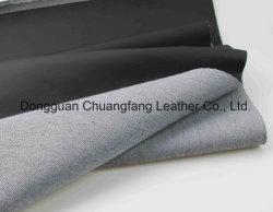 CF 16 Artifical Black Litchi Grain PU Leather for Sofa Furniture Car Seat Cover
