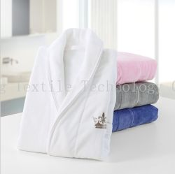 5f4cd09260 Customized Luxury Unisex Shawl Collar Cotton Velvet SPA Terry Hotel Bathrobe