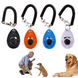 Pet Trainer Pet Dog Training Dog Clicker Adjustable Sound Key Chain and Wrist Strap Doggy Train