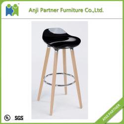 (FIREL) Modern Industrial Wooden Legs Plastic High Bar Stools