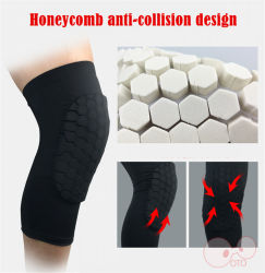 2 PCS Honeycomb Protective Compression Knee Pads Basketball Leg Sleeves Knee Support Kneecap Sports Safety Cycling Leg Warmmers