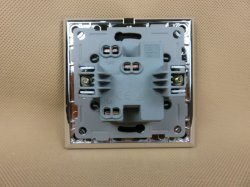 TUV CE CB European standard certified toughened glass 1 Gang 2 Way with LED BLACK wall switch