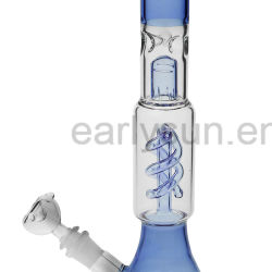 New for Wholesale! Straight Type Glass Water Pipes Light Blue Color with 18mm Female Joint (ES-GB-024-11)