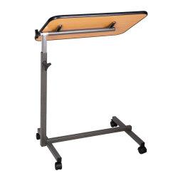 Cheapest Hospital Medical Adjustable Tiltable Overbed Bedside Table