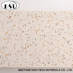 Light Golden Artificial Quartz Stone (Own Factory And CE)