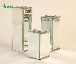 Latest Design High Quality Mirror Glass Candlestick