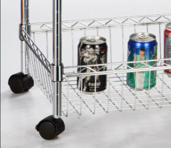 Four Tier Chrome Finish Display Rack for Store or Home Use