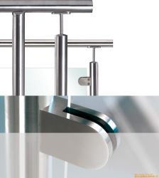 Promotion Price Stainless Steel D Shape Glass Clamp/ Glass Clip/ Handrail Fitting (JBD-G3)