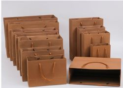 Kraft Paper Bags Shopping Bags Grocery Mechandise Paper Gift Bag