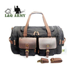 e81edb05ae Leather Canvas Duffle Bag Weekend Overnight Bag Travel Tote Duffel Luggage