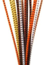 DIY Crafts Chenille Stems 6mm Animal Stripes Assorted Colors
