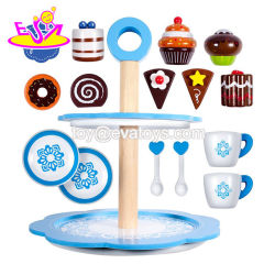 2018 New Fashion Kids Wooden Toy Cake Stand for Pretend Tea Time W10d178