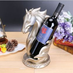 Wholesale Latest Design Resin Horse Head Wine Bottle Holder