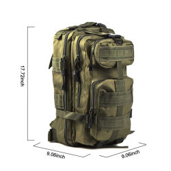 20L Men's Outdoor Molle Pack Combat Bag Military Tactical Backpack