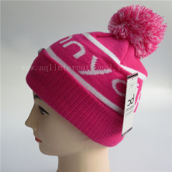 b91fb970ca0 Custom Jacquard Beanie Kids Beanie Fashion Polar Fleece Beanie Hat  Wholesale Knit Winter Wear Hat Girls