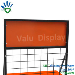 Floor Standing Petrol Bottles Display Shelf Rack/Customized Retail Lube Oil Metal Display Stand/Engine Oil Bottles Display