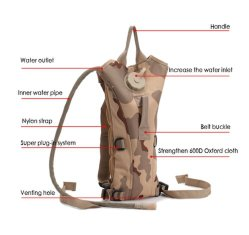 3L Water Bag Molle Military Tactical Hydration Backpack Water Bag Camping Water Bags for Bicycle Riding Hiking Sports Water