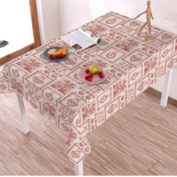 High Quality Waterproof and Oilproof Oilcloth Linen Fabric PVC Table Cloth