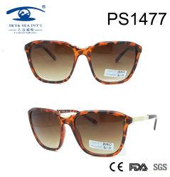 Demi Brown Frame Metal Temple Woman PC Fashion Sunglasses (PS1477)